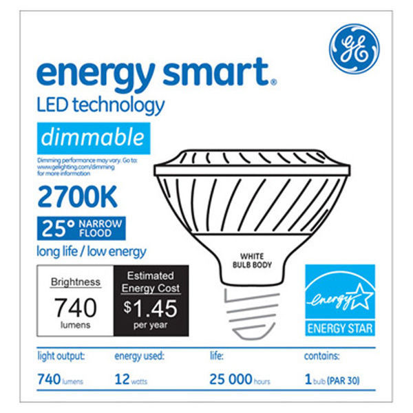 GE 65986 - Dimmable LED - 12 Watt - PAR30 - Short Neck Image