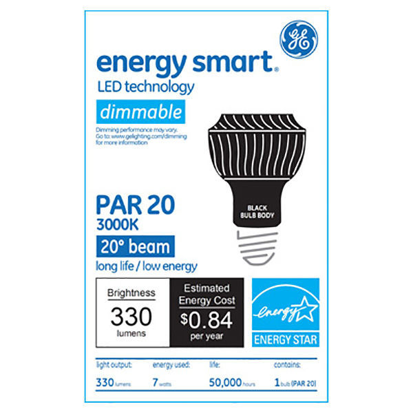 GE 61916 - Dimmable LED - 7 Watt - PAR20 Image