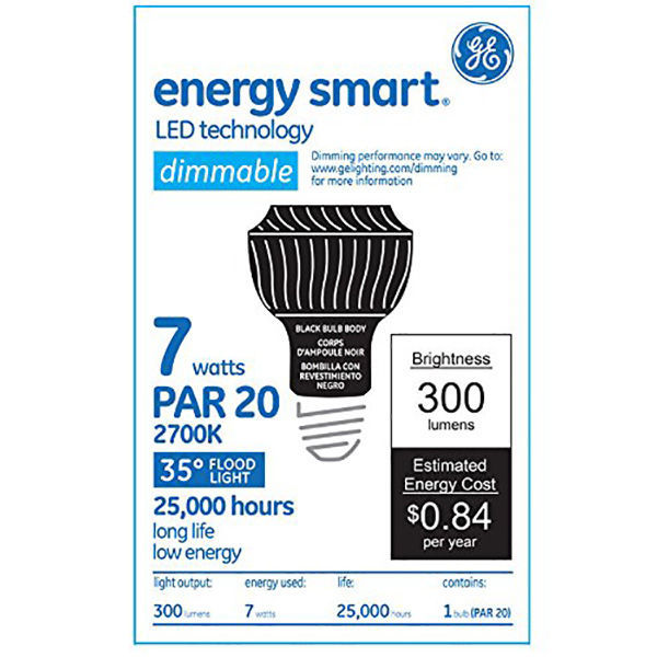 GE 63696 - Dimmable LED - 7 Watt - PAR20 Image