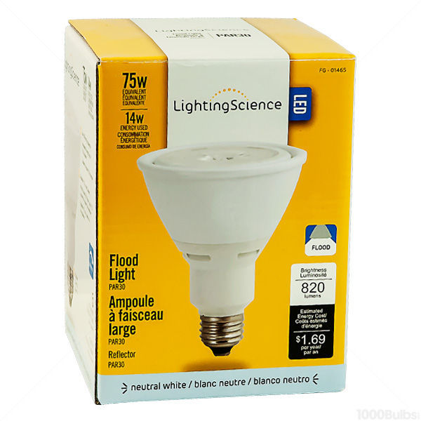 Lighting Science LS3075WENWFL120 - Dimmable LED - 14 Watt - PAR30 - Long Neck Image