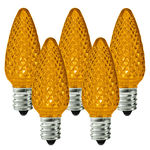 25 Pack - C7 - LED - Amber-Yellow - Faceted Finish Image