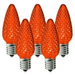 25 Pack - C9 - LED - Amber-Orange - Faceted Finish Image