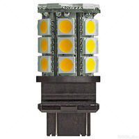 LED - 3.5 Watt - Plastic Wedge Base - 3000 Kelvin - Halogen Match - 375 Lumens - 25 Watt Equal - 12 Volt DC - PLT 3157-27SMD5050-30K