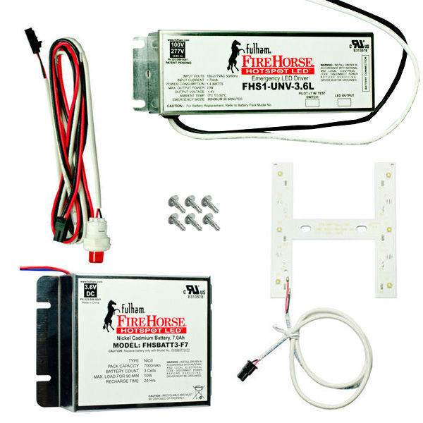 Fulham FHSKITT10SHF - LED Emergency Backup Lighting - T5, T8, T12 Troffer Retrofit Kit Image