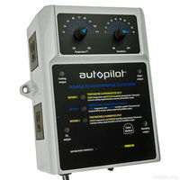 Analog Environmental Controller with Remote Probe - 4 Outlets for Climate Control Devices - 120V - 14.5A - Autopilot APCETHD