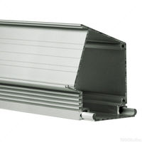 3.28 ft. Anodized Aluminum IMET Channel - For LED Tape Light and Strip Light - Klus 18012