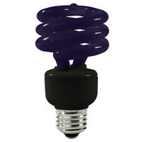 Spiral CFL - 15 Watt - 60W Equal - Black Light Blue Party Light