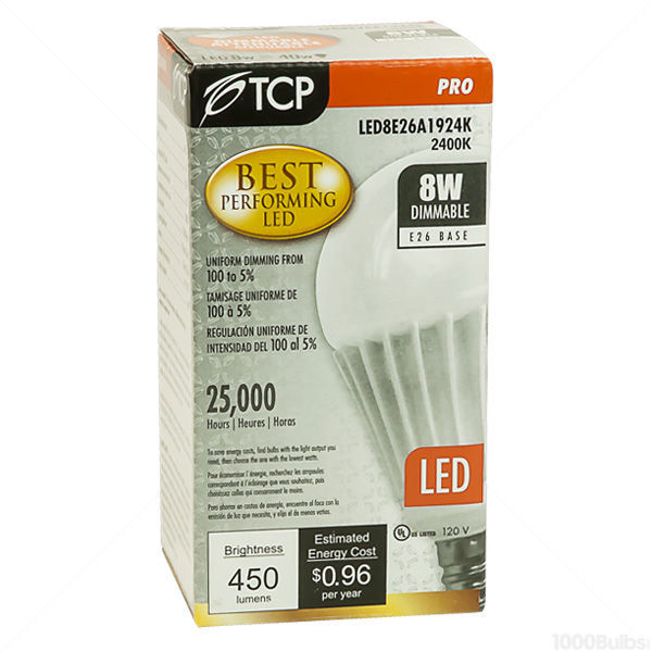 Dimmable LED - 8 Watt - A19 - 40 Watt  Equal Image