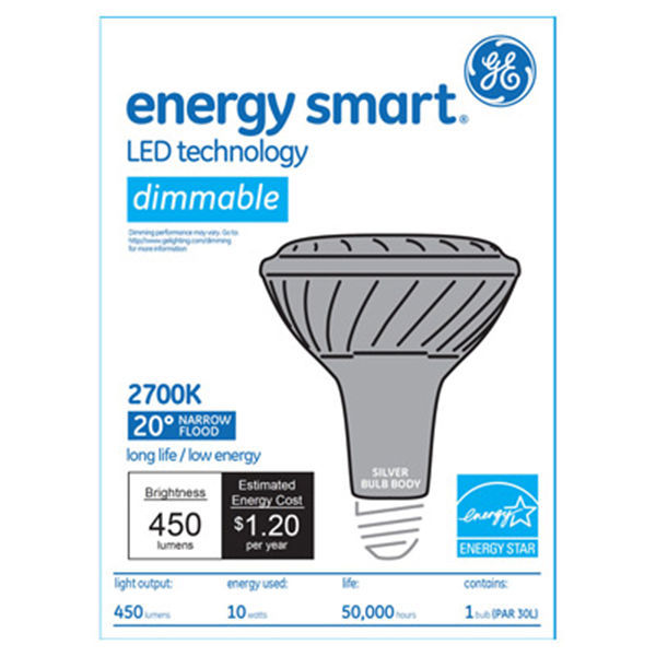 GE 61925 - Dimmable LED - 10 Watt - PAR30 - Long Neck Image