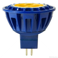 LED MR16 - 4 Watt - 20 Watt Equal - Amber - 230 Lumens - 15 Deg. Spot - 8-25 Volt - GU5.3 - PLT MR16 4 AMBER 15