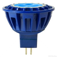 230 Lumens - Blue - LED MR16 - 4 Watt - 20W Equal - 30 Deg. Flood - CRI 85 - 8-25V - GU5.3 Base