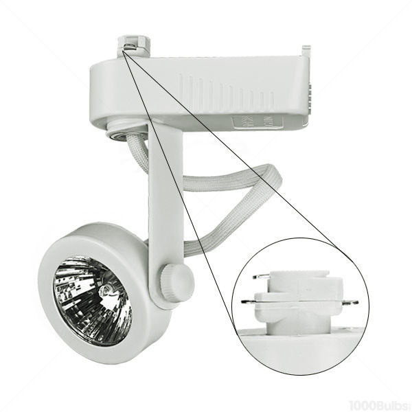 Nora NTL-207W - Gimbal Ring Low Voltage Track Fixture - White Image
