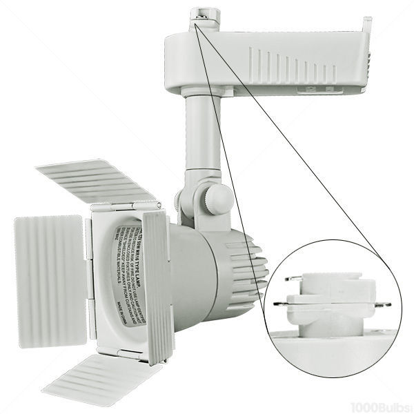 Nora NTL-208W - Barndoor Low Voltage Track Fixture - White Image