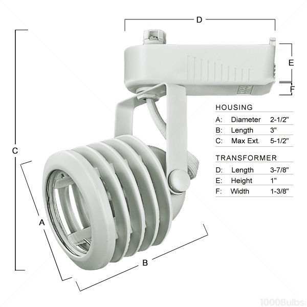 Nora NTL-212W - Multi-Stepped Low Voltage Track Fixture - White Image