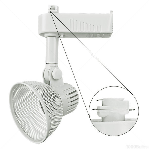 Nora NTL-213W - Wireback Low Voltage Track Fixture - White Image