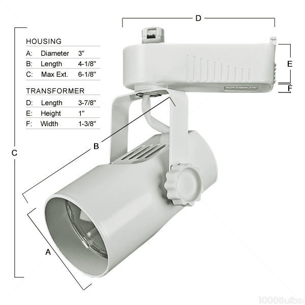 Nora NTL-215W - Telescope Low Voltage Track Fixture - White Image