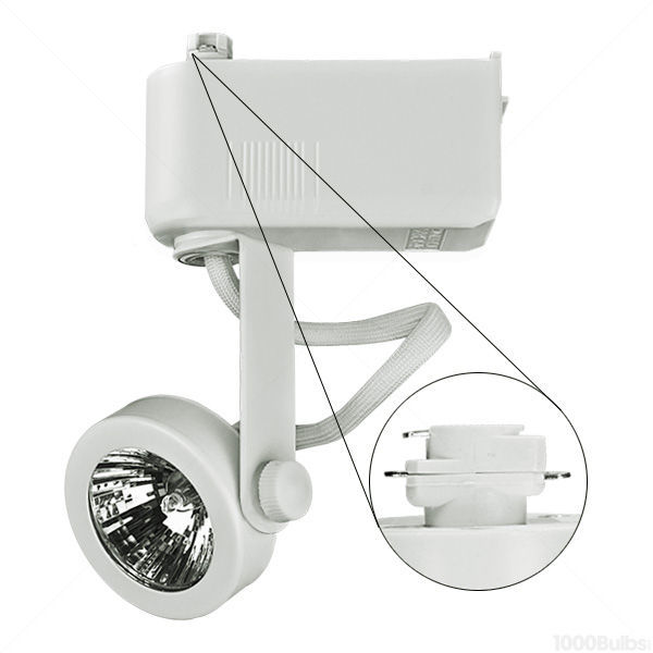 Nora NTL-207/75W - Gimbal Ring Low Voltage Track Fixture - White Image