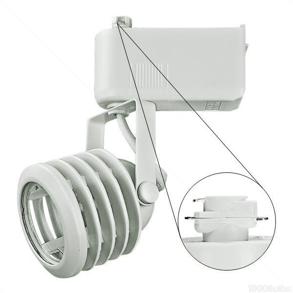 Nora NTL-212/75W - Multi-Stepped Low Voltage Track Fixture - White Image