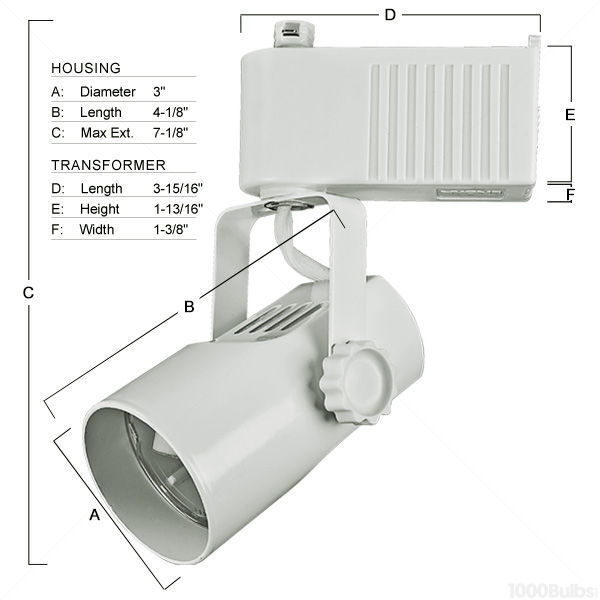 Nora NTL-215/75W - Telescope Low Voltage Track Fixture - White Image