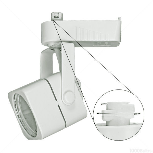 Nora NTL-202W - Cube Low Voltage Track Fixture - White Image