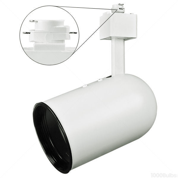 Nora NTH-105W - Round Back Cylinder Track Fixture - White Image
