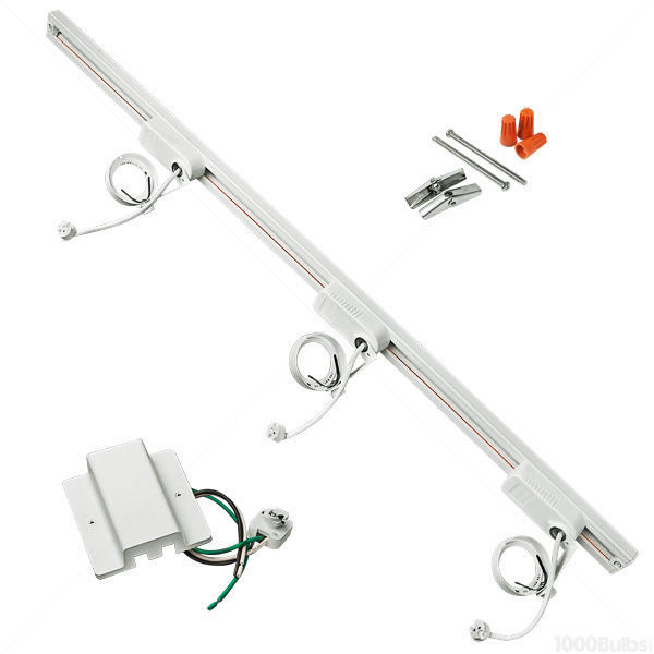 Nora NTL-181W - White - 3 ft. Track Kit Image