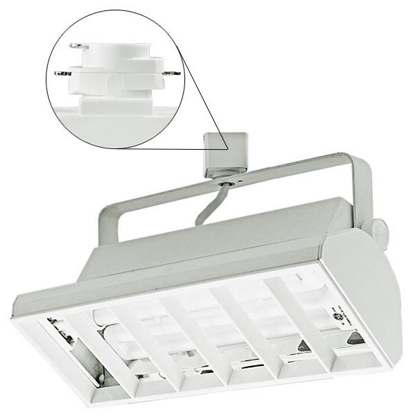 Nora NTF-3218S -  Compact Fluorescent Track Fixture  - Silver Image