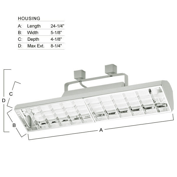 Nora NTF-3240W -  Compact Fluorescent Track Fixture  - White Image