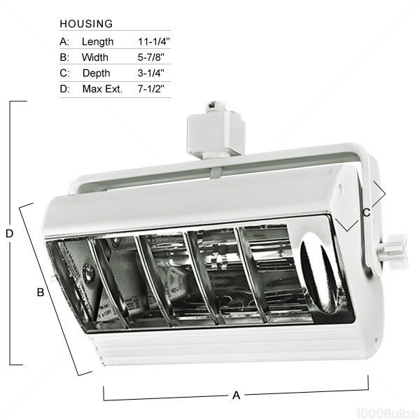 Nora NTF-2642S -  Compact Fluorescent Track Fixture  - Silver Image