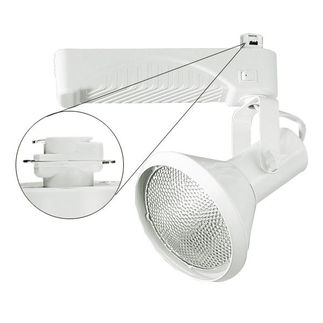 Nora NTM-6338/70S - Silver - Cone and Gimbal - Operates 70 Watt PAR38 Metal Halide - Compatible with Halo Track - Built-In Electronic Ballast