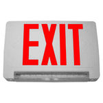 Single Face - LED Exit Sign - Includes Backup LED Light Bar - Red Letters Image