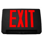 LED Combination Exit Sign - Black Thermoplastic - Red Letters Image