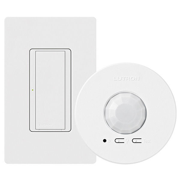 Lutron Maestro MRF2-1S8A-1OC - Wireless RF Switch and Ceiling Sensor - Energi TriPak Kit Image