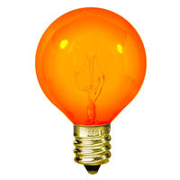 10 Watt - G12 - Transparent Amber - 1-1/2 in. Dia. - 130 Volt - 2,500 Life Hours - Amusement Light Bulb