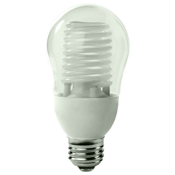 A-Shape CCFL - 8 Watt - 40W Equal - 2700K Warm White Image