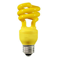 Spiral CFL - 13 Watt - 60W Equal - Yellow Party Light