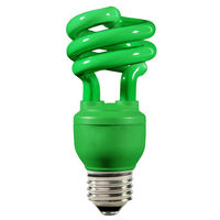 Spiral CFL - 13 Watt - 60W Equal - Green Party Light