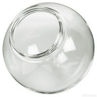 6 in. Clear Acrylic Globe - with 3.25 in. Threaded Neck Opening - American 3202-50630