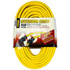100 ft. - Heavy Duty Extension Cord - Indoor/Outdoor Use - 12 AWG - 3-Prong Grounded Plug - 15 Amp - 1875 Max.Wage - 125V, Yellow PWC C02589
