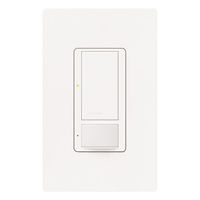 White - Passive Infrared (PIR) Vacancy Sensor - 6 Amp Max. - 120-277 Volt - Connect to Ground or Neutral Wire