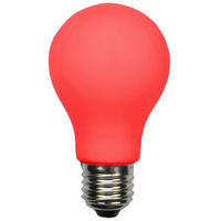 LED A19 Party Bulb - Red - 1 Watt - 10 Watt Equal - 120 Volt - PLT LED-A19-RED