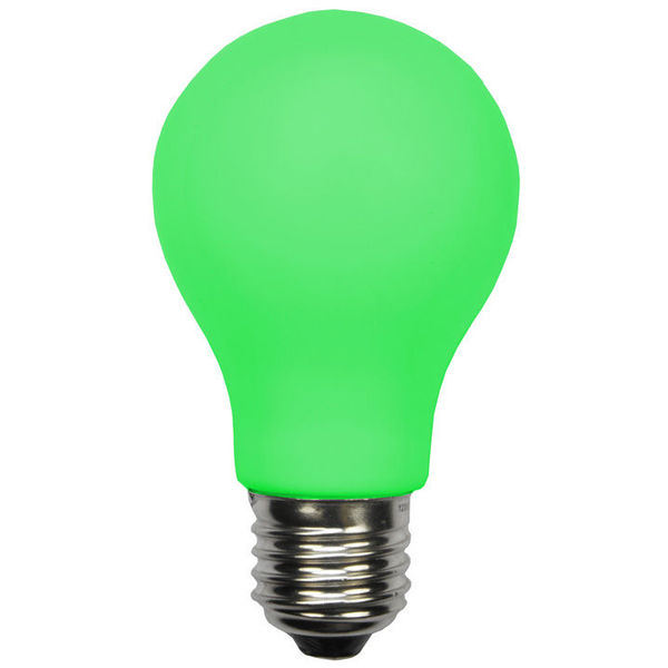 Green - LED - A19 Party Bulb - 1 Watt Image