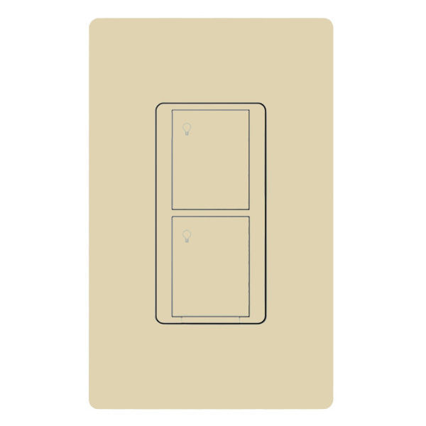 Lutron PD-5S-DV-IV - 5 Amp Max. - 2 Button RF Switch Image