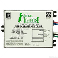 Fulham H5-UNV-70HSC - 70 Watt - Electronic Metal Halide Ballast - ANSI M98/139 - 120/277 Volt - Power Factor 95% - Side Lead Mounting