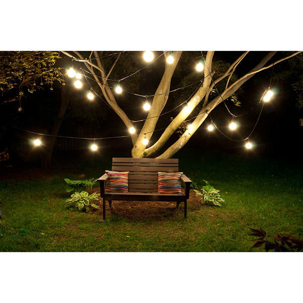 48 ft. - 15 Sockets - 36 in. Spacing - Patio Light Stringer Image