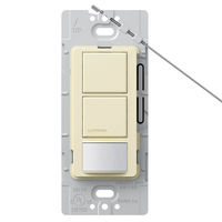 Almond - Passive Infrared (PIR) Dual-Circuit Occupancy Sensor - 6 Amp Max. - 120-277 Volt - Ground Required