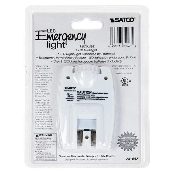 Satco 75-047 - Emergency Flashlight/Night Light Image