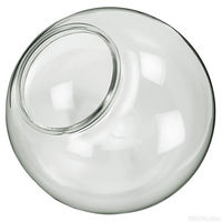 8 in. Clear Acrylic Globe - Extruded Neck Flange - 4 in. Opening - American 3202-08020