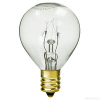 10 Watt - G11 Globe Incandescent Light Bulb - Clear - Candelabra Brass Base - 120 Volt - Sunlite 01610SU