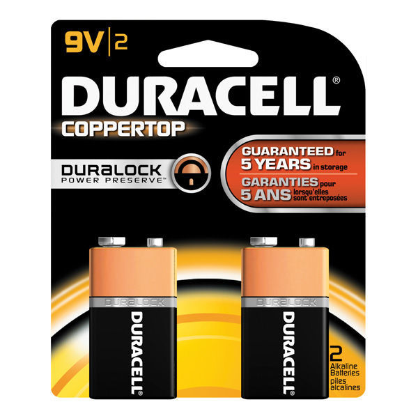 Duracell CopperTop - 9V Size - Alkaline Battery Image